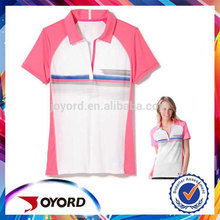 Latest design dri-fit sublimated polyester polo t shirt