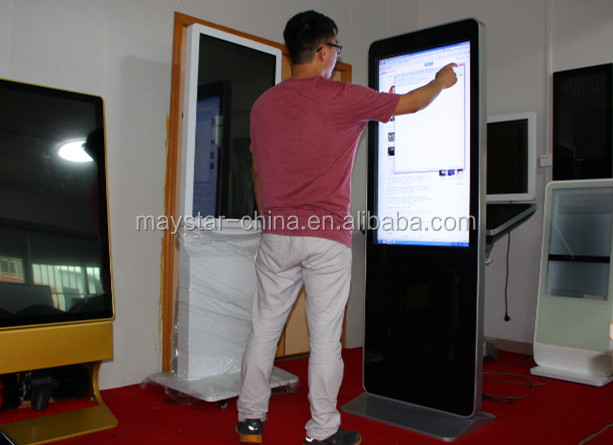 2 year warranty full hd wifi large touch screen panel lcd digital signage with Web Camera