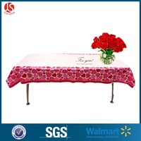 Plastic Valentine Romantic decorative tablecloth for lover