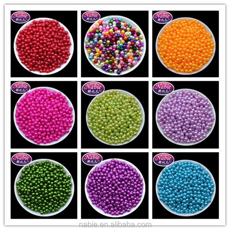 6mm plastic pearl beads for garment accessory crafts jewelry decrorating