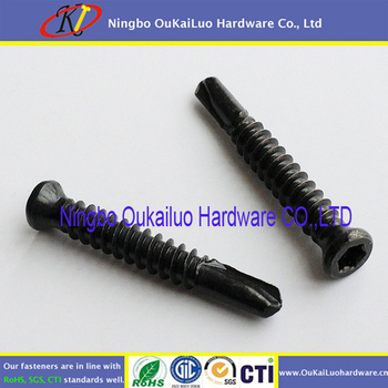 Black Oxide Stainless Steel Torx Drive Trim Head Self Drilling Screws