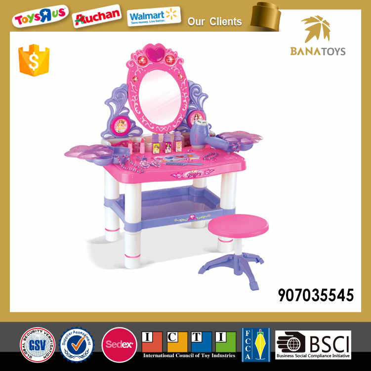 kids dressing table toy with light and music