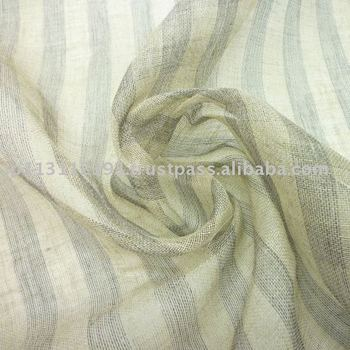 Linen gauze mesh Border charcoal high end