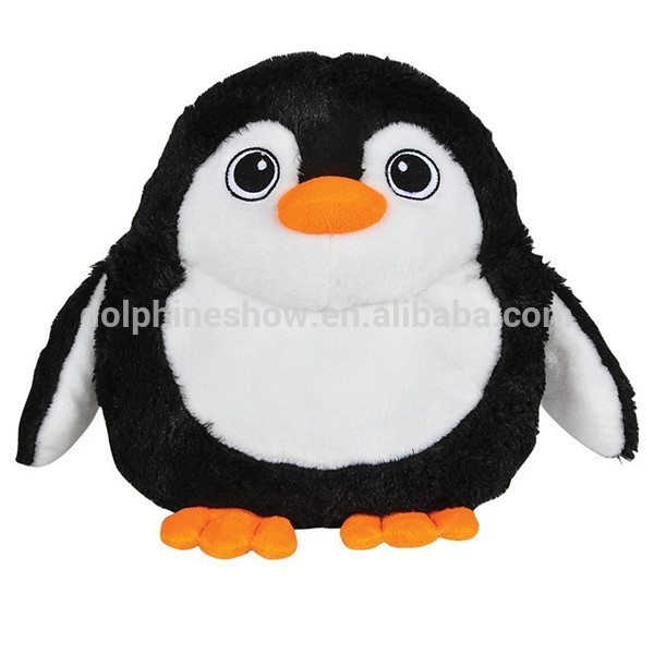 Souvenir Gift Big Eyes Cartoon Penguin Plush Soft Toy Fashion Custom Cute Stuffed Plush Round Penguin
