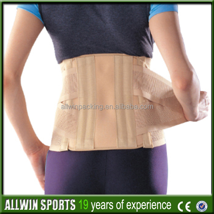 Allwin Top sale tourmaline magnetic lumbar support with magnetic stones