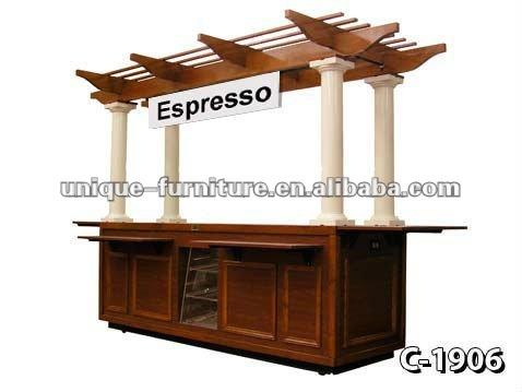 Madera antigua caf espresso alimentos kiosco otros for Kioscos de madera baratos