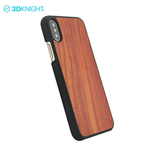 Real wood custom design uv printing cell phone case for iphone X case box double
