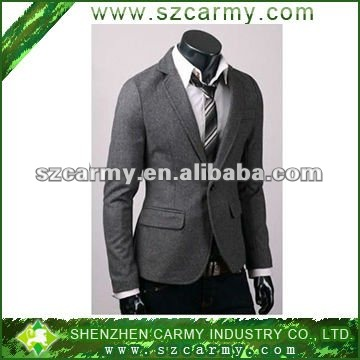 Latest fashionable long sleeve slim fit with button fly and button down collar worsted formal 2014 Men Business Suit