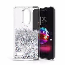 bling style stars quicksand liquid glitter phone case for LG k10,soft shell case for lg k10