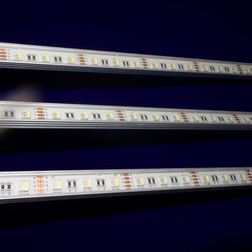 NEW 5050 SMD 4-in-1 RGBW LED rigid bar;DC12V input ;1m long;24W;IP65 waterproof