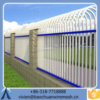 2015 Popular Baochuan high quality strong steel fence/wrought iron/aluminum fence with reasonable price