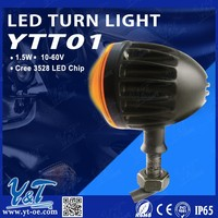Y&T 12V Universal Motorcycle Head Light Turn Signals Indicator Black