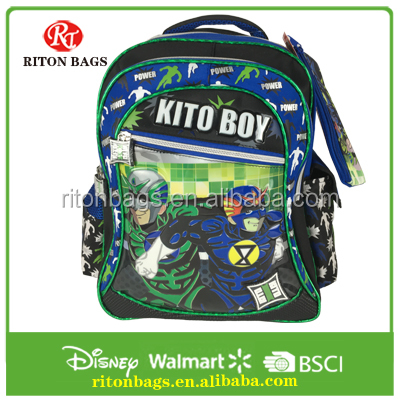 Manufacturer new pattern wholesale school bag new models with pencil case