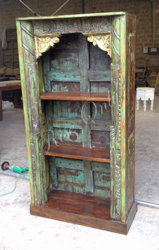 Rise Only antique reproduction decorative European style old door bookshelf bookcases