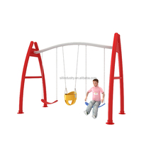 Children Outdoor Playground Indoor Amusement Equipment A Shaped Three-passenger Swing