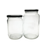 factory price wholesale transparent storage honey food screw metal lid glass mason jam jar 600ml