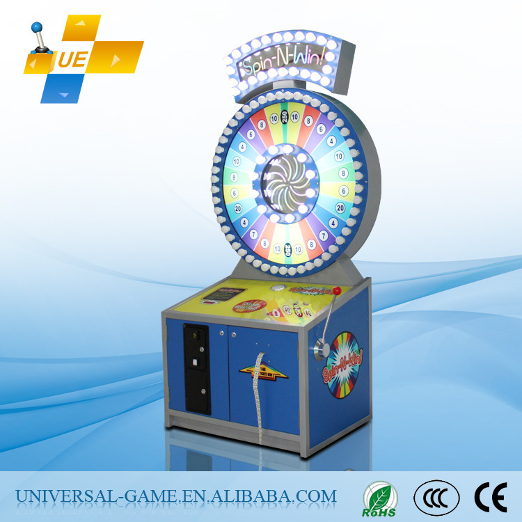 2015 Newest Spin-N-Win! Push Win Electronic Coin Operated Roulette Game Machine for Sale