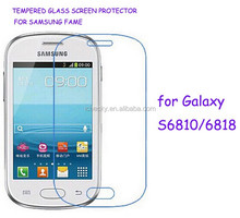 tempered glass screen protector for samsung galaxy Fame S6818/S6810