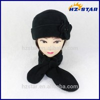 HZW-14222006 Women lady fashion winter warm pure color knitted wholesale scarf and hats