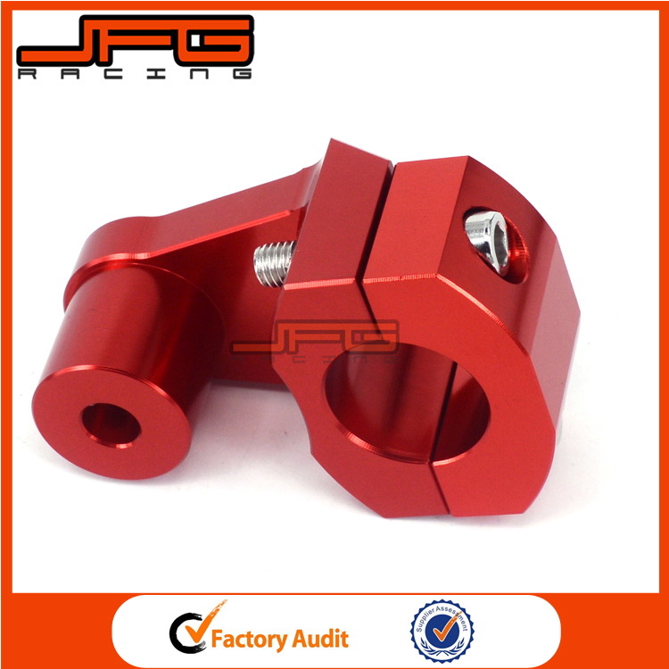 "7/8"" Red CNC HandleBar Handle Bar Mounts Clamps Risers 22mm For Honda Motorcycle"