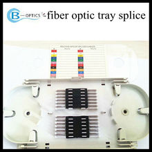 manufacturer 12,24 ports fiber optical splice tray patch panel with SC/FC/LC PLC splitter in ODF