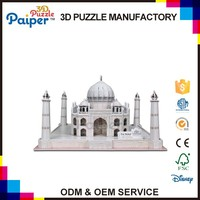 Chinese manufactory castle toy 3d foam build model taj mahal