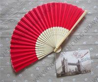 bamboo handle cheap silk hand fans