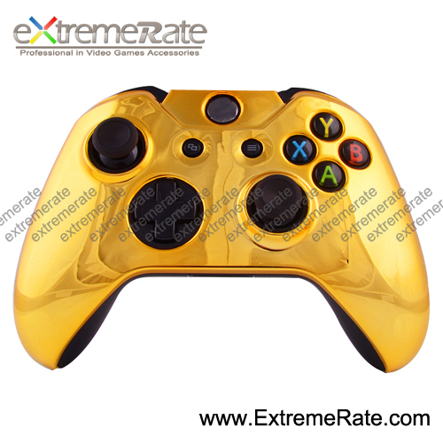 Wholesale Original Protector Chrome Gold Front Shell / Case For Xbox One Controller Protective Cover