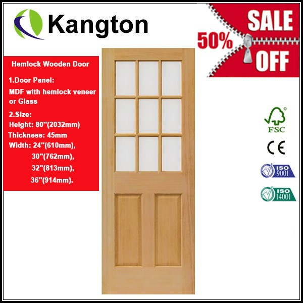Promotion! Christmas gift Hemlock Wooden door