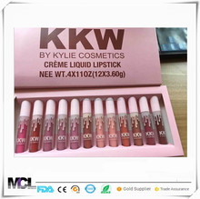 2017 new kylie jenner KKW 12pcs lipgloss kit makeup 4 lip gloss sets single lip gloss do not stick cup waterproof lip gloss
