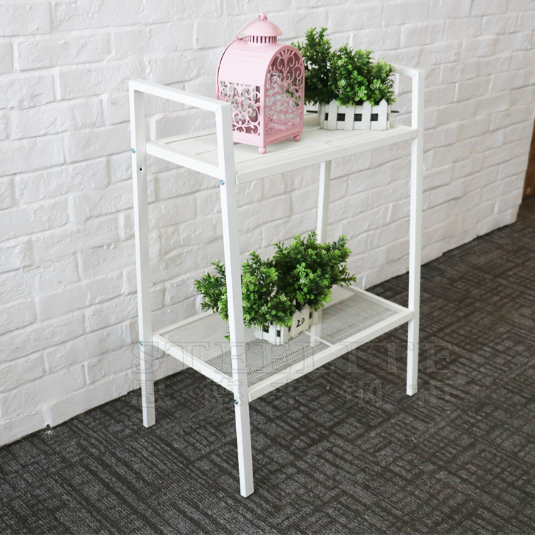 China Supplier Living Room Or Warehouse Used Space Saving Metal Tv Stand Corner Shelf