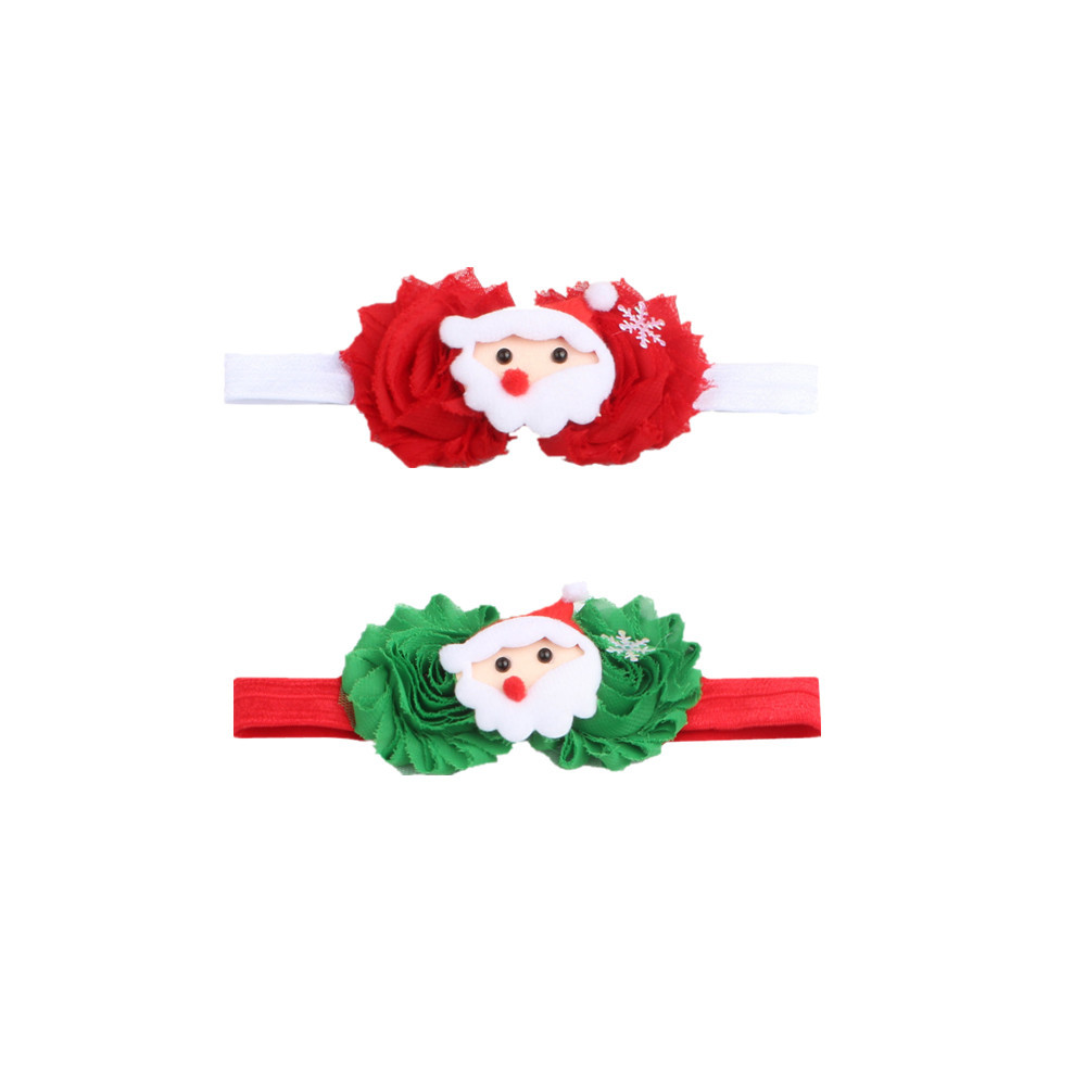 Wholesale high quality fashion design father christmas hairclips for children