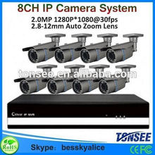 cctv spare parts,8ch 1080P IP Camera Nvr kit,ip camera housings