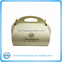 Factory manufacturer one sheet foldable paper cake box with handle