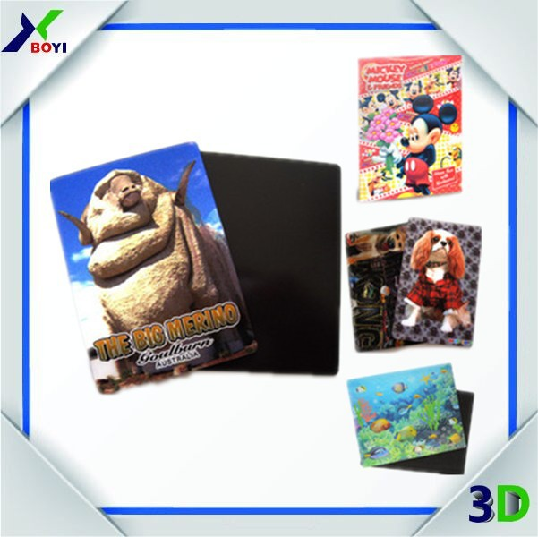 2015 HOTSALE China Factory Direclty Supply 3D Animal Design Soft PVC Refrigerator Magnet