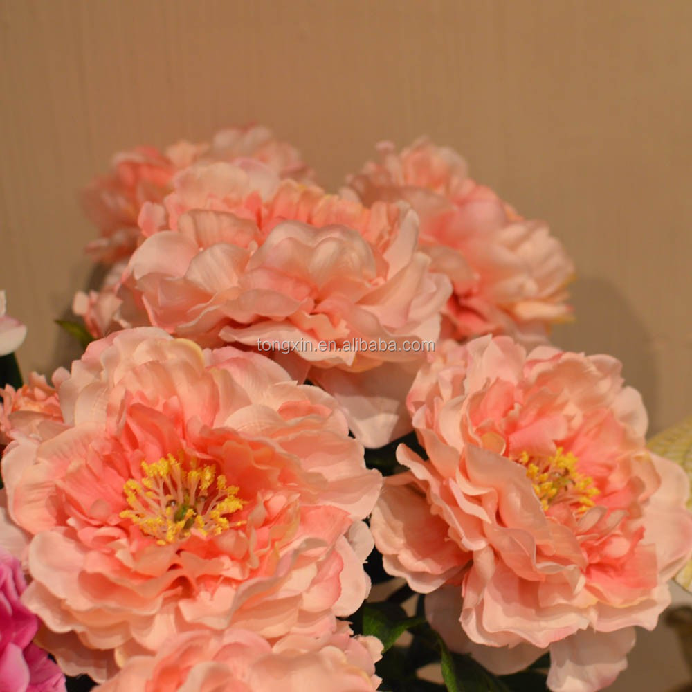 Hot sell high quality fake peony flowers wholesale manufacturer
