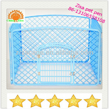 bule plastic puppy pet dog cage /pen