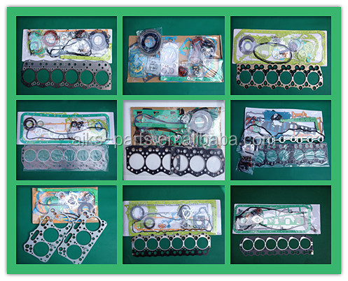6RB1 Full gasket set 1-87810-732-2 1-11141-059-0 1-11141-216-2 1-87810-732-2 used for Japanese Exvacator