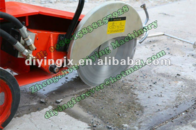 Hot sell Electric/Diesel 500mm diamond blade concrete Road Cut off Saw