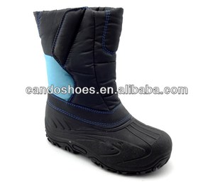 Black Insulated Fur Winter Boots Man