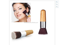 beauty need round head Synthetic hair bamboo handle makeup brush