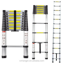 Aluminum Portable Telescoping Extension Collapsible Ladder 3.8M 12.5FT 13-step 330Lbs
