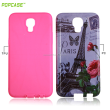 popcase custom printed Durable Gummy combo mobile case for LG x screen