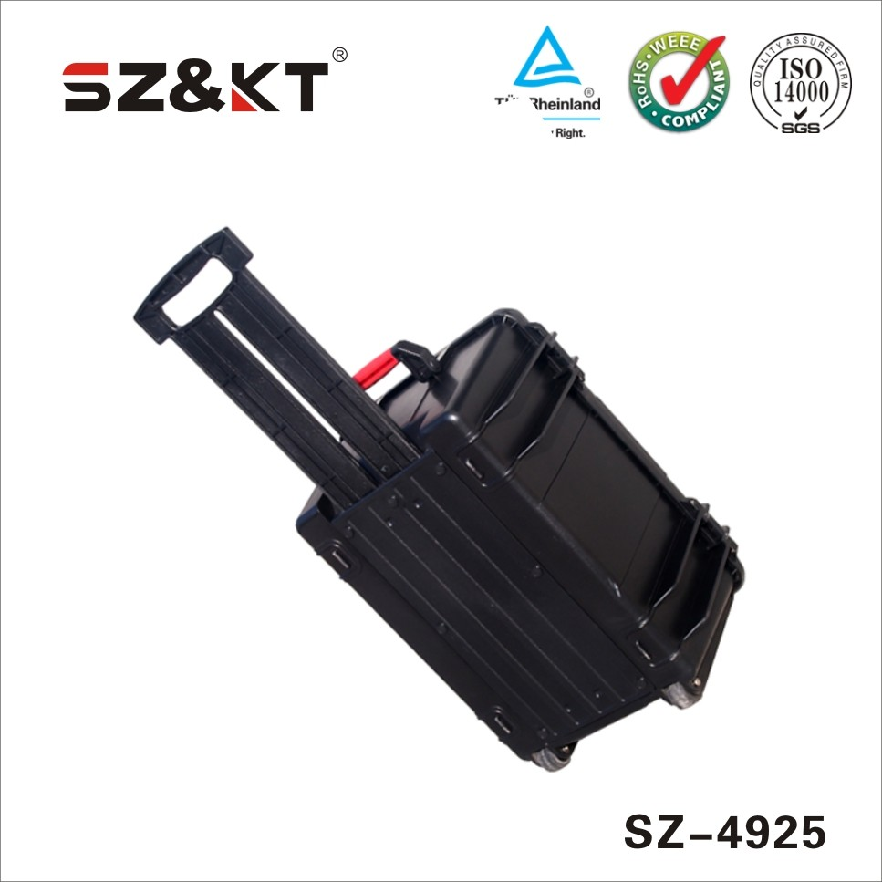 Hard plastic carry transit travel equipment case with rob handle