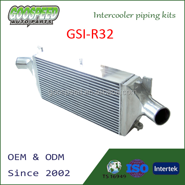 high performance aluminum universal intercooler