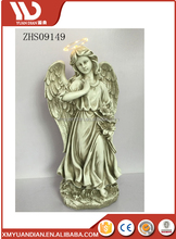 hot seller resin Angel Garden Memorial figure with solar light
