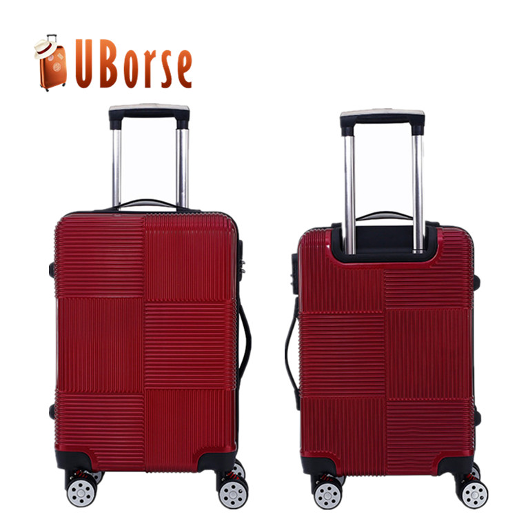 Cheap ABS or PC travel hard luggage bags & trolley suitcase luggage