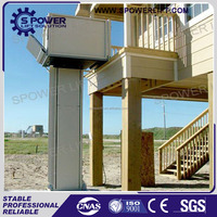 Spower brand 6m CE single person hydraulic wheelchair lifts on floor lift for disabled
