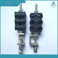 power and optical fiber cable feeder clamp