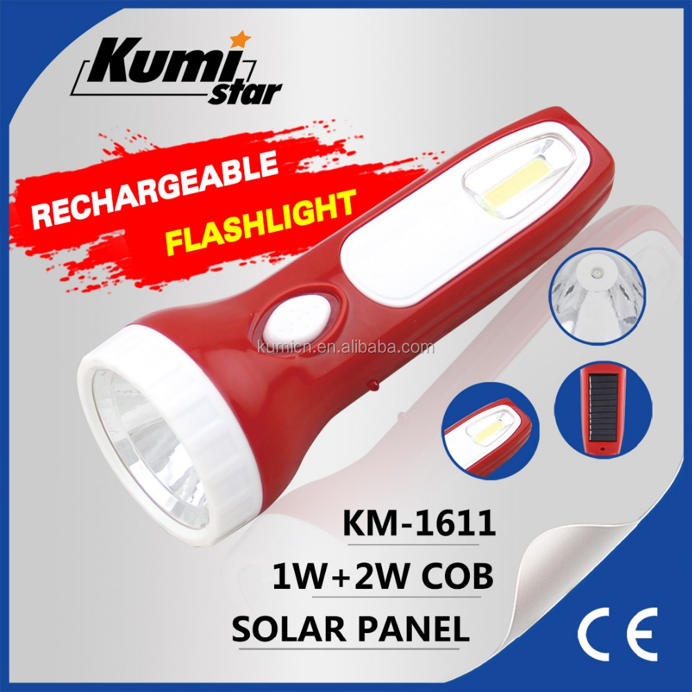 camping super bright solar rechargeable torch light KM-1611